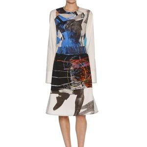 Sally Smart Marni white multiprinted collage dress